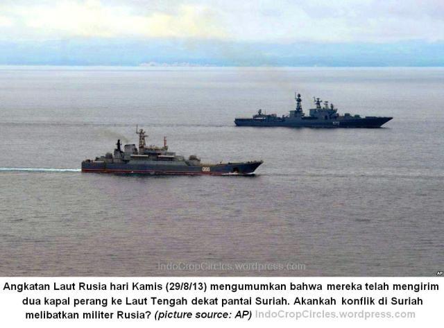 dua kapal perang russia menuju suriah 29-8-13