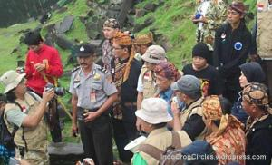Mendikbud di site of the world - situs gunung Padang June 20