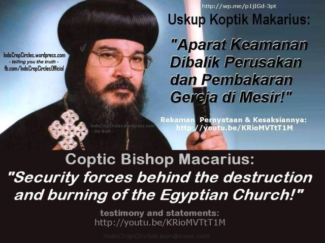 Uskup Koptik Makarius, Mesir banner