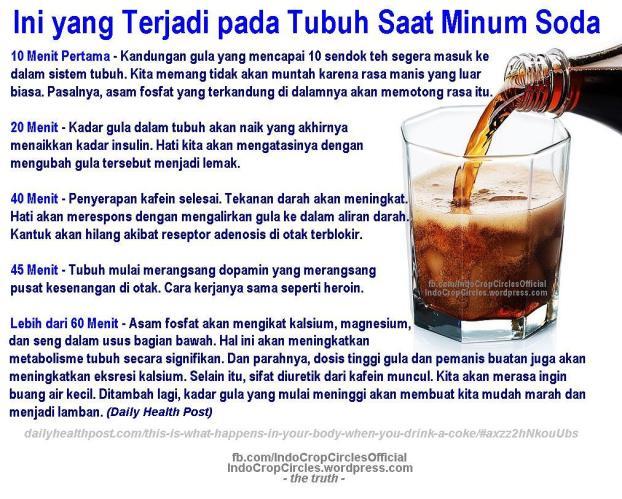 bahaya minum soda - apa yang terjadi pada tubuh saat minum soda
