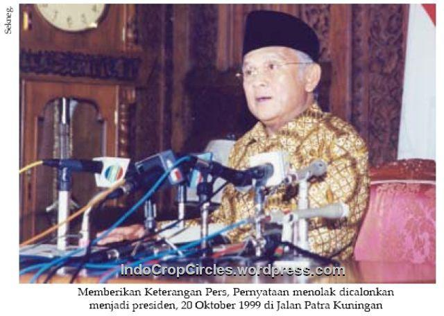 Habibie menolak dicalonkan presiden 20-10-99 001