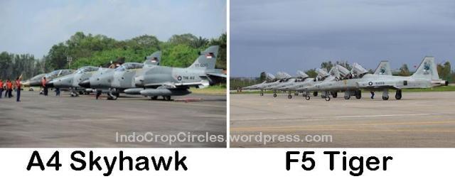 pesawat A4 Skyhawk dan F5 Tiger