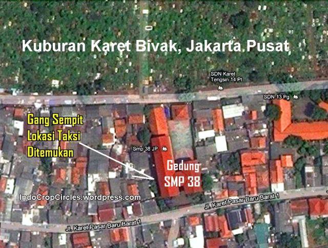 peta lokasi taksi masuk gang kuburan karet bivak