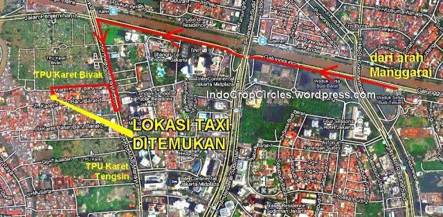 peta lokasi taksi masuk gang kuburan karet bivak2