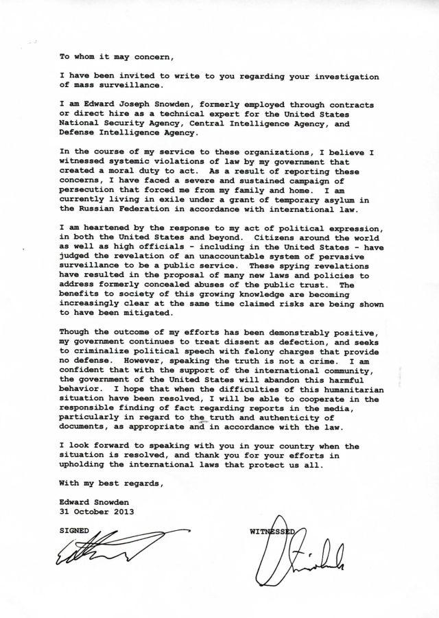 surat snowden-letter