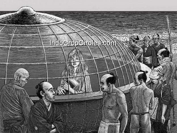 Perahu Bulat Mirip UFO Terdampar di Jepang Tahun 1803 (gambar ilustrasi)