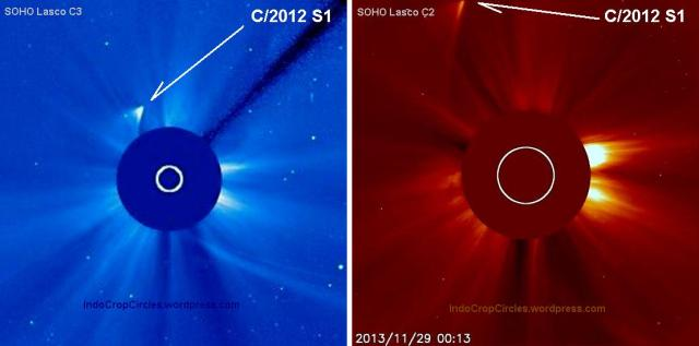 Comet ISON passing the sun 02