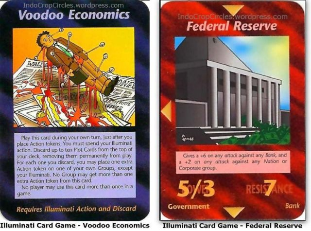 Illuminati Card Game - Voodoo Economics, federal reserve