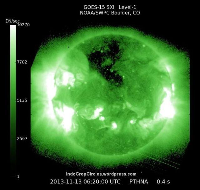 lubang hitam besar di matahari sun huge black area 03