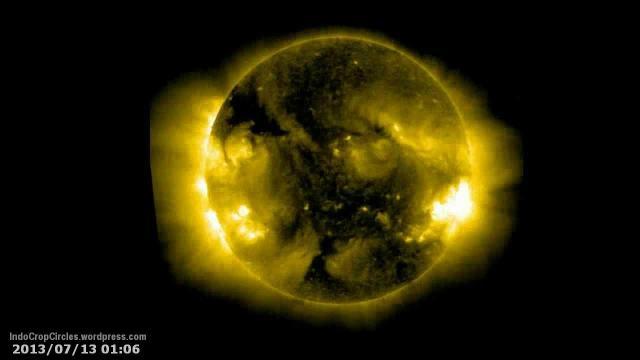 lubang hitam besar di matahari sun huge black area