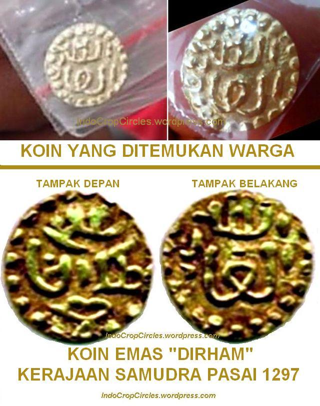 perbandingan koin emas ditemukan di Aceh dengan dirham Samudera Pasai