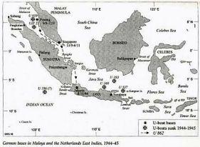 Basis U-boat Jerman di Malaya (Malaysia) dan Indonesia (Netherlands Indies) tahun 1944-1945.
