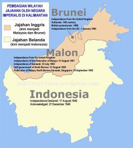 daerah jajahan di Kalimantan borneo