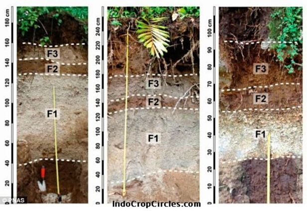 Observasi lapangan pada lapisan piroklastik dari Letusan Gunung Samalas menunjukkan ketebalan maksimum yang diukur melebihi 1 m, dan kumulatif deposito jatuh mencapai hingga 1.60m