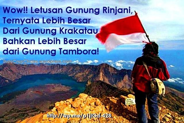 mount samalas aka rinjani withsegara anak lake banner
