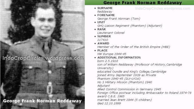 Norman Reddaway, George Frank Norman Reddaway