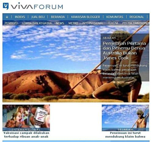 vivanews penemu australia bukan james cook