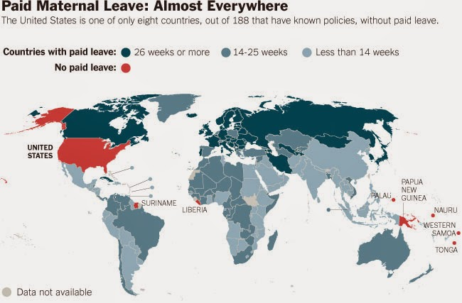 40 Maps That Will Help You Make Sense of the World - Paid Maternal Leave Around the World