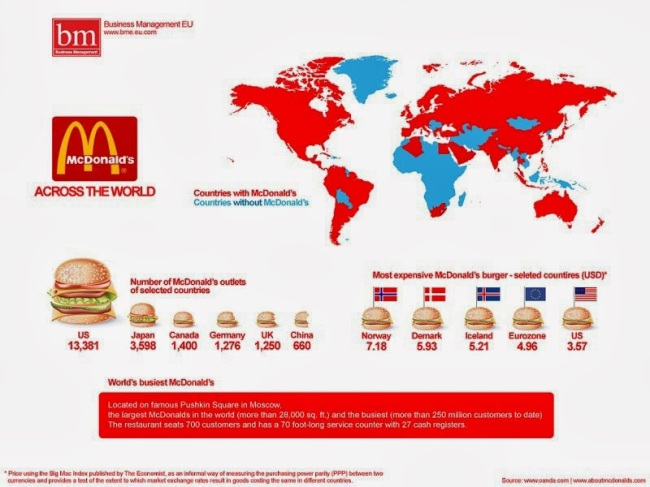 40 Maps That Will Help You Make Sense of the World - McDonald's Across the World
