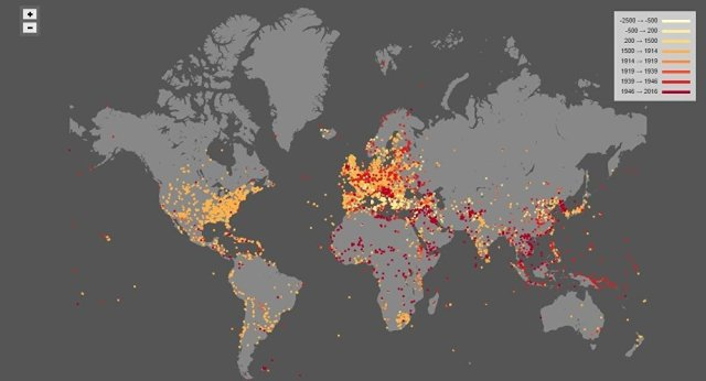 Map of World War Shows 4,500 Years of Global Conflict