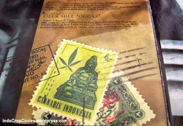 perangko ganja indonesia cannabis stamp 01