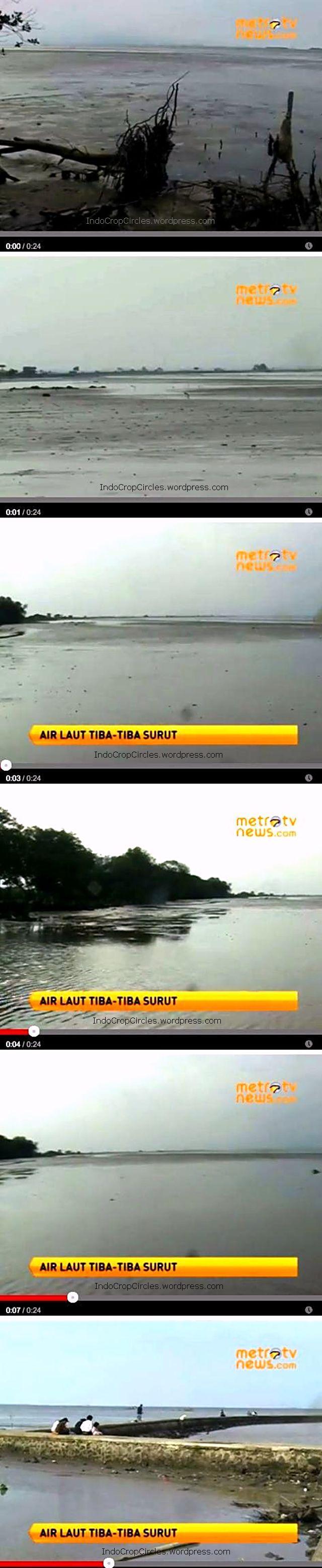 Air laut Serang Banten Surut all