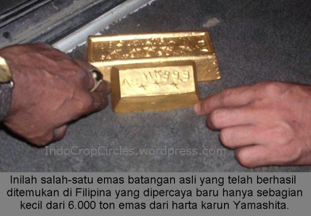 emas batangan asli ditemukan di Filipina dari harta karun Yamashita