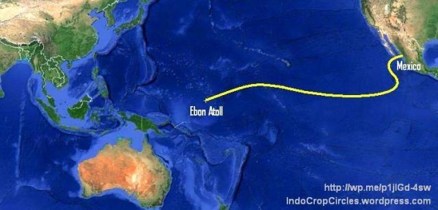Jose Ivan castaway Pacific route map