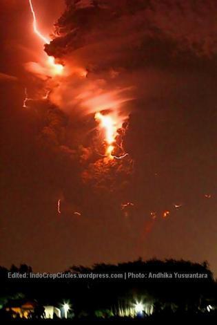 kelud erupting 14 Feb 2014 04