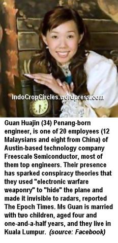 Guan Huajin, Freescale Semiconductor, mh370