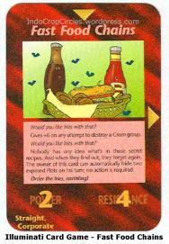illuminati card game - fast food chains