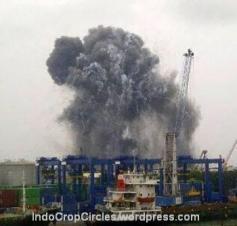 ledakan di pondok dayung priok 01