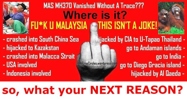 MAS MH370 VANISHED - GET REAL MALON THIS IS NOT A JOKE