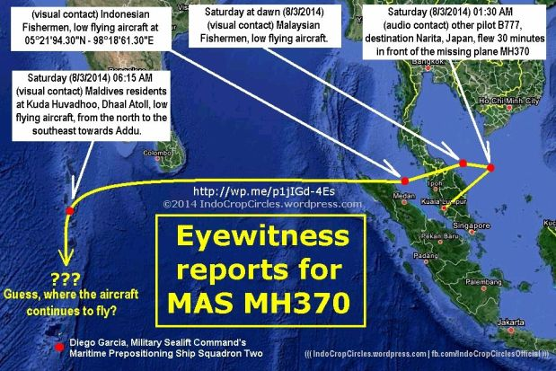 MH370 CRASHED EYEWITNESS
