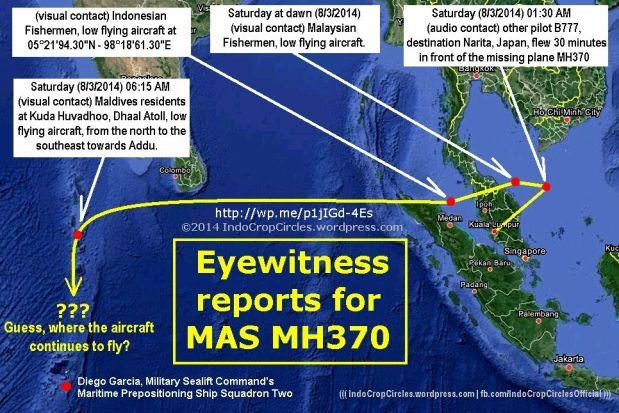 MH370 CRASHED EYEWITNESS