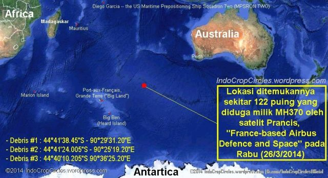 MH370 found 122 debris French satellite