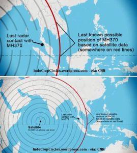mh370 last unknown Cina satellite data Indian Ocean