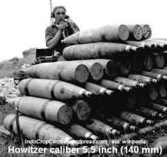 Peluru kelas sedang (medium gun) Howitzer 140mm