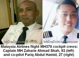 pilot and co-pilot MAS MH370