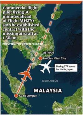 rute MH370 dan pesawat B777 lainnya