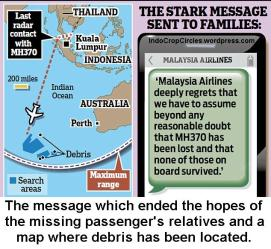 The MH370 message which ended the hopes of the missing passenger's relatives