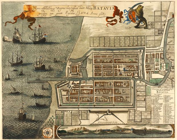 Dutch Batavia in 1681, built in what is now North Jakarta.