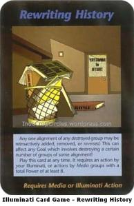 Illuminati Card Game Agenda - Rewriting History