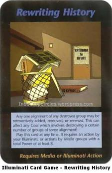 Illuminati Card Game Agenda - Rewriting History