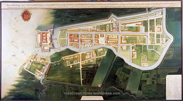 Reproduction of a map of the city Batavia circa 1627