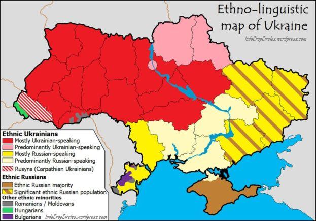 Language's Map of Ukraine.