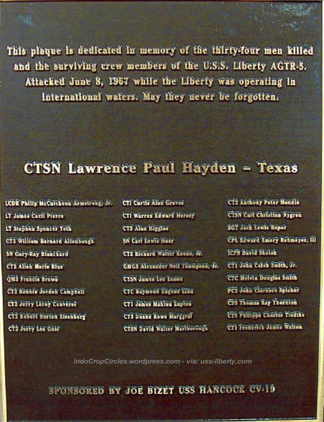 uss liberty memoriam lexingtonplaque