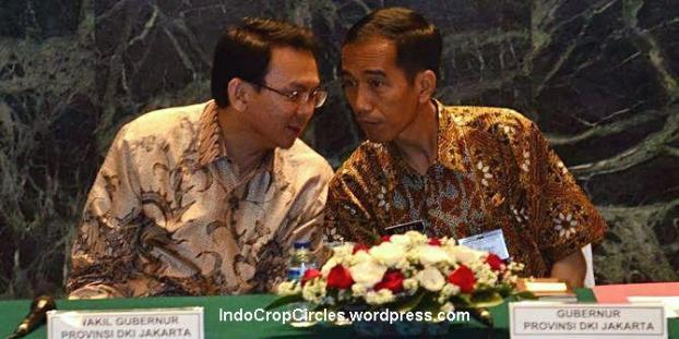 Wakil Gubernur Jakarta, Basuki Vahaya Purnama atau Ahok (kiri) dan Gubernur Jakarta, Joko Widodo (kanan) saat menggelag rapat. (merdeka)