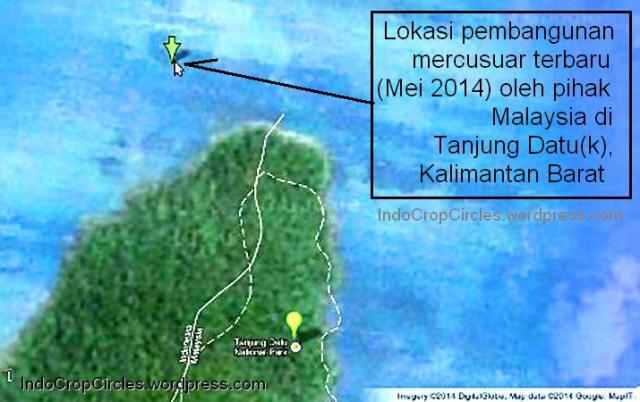 pembangunan mercu suar malaysia di  tanjung datu kalimantan barat 02