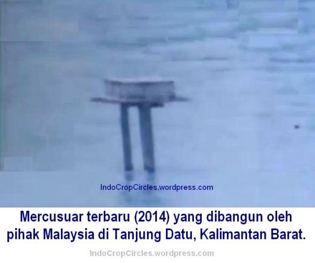 pembangunan mercu suar malaysia di  tanjung datu kalimantan barat